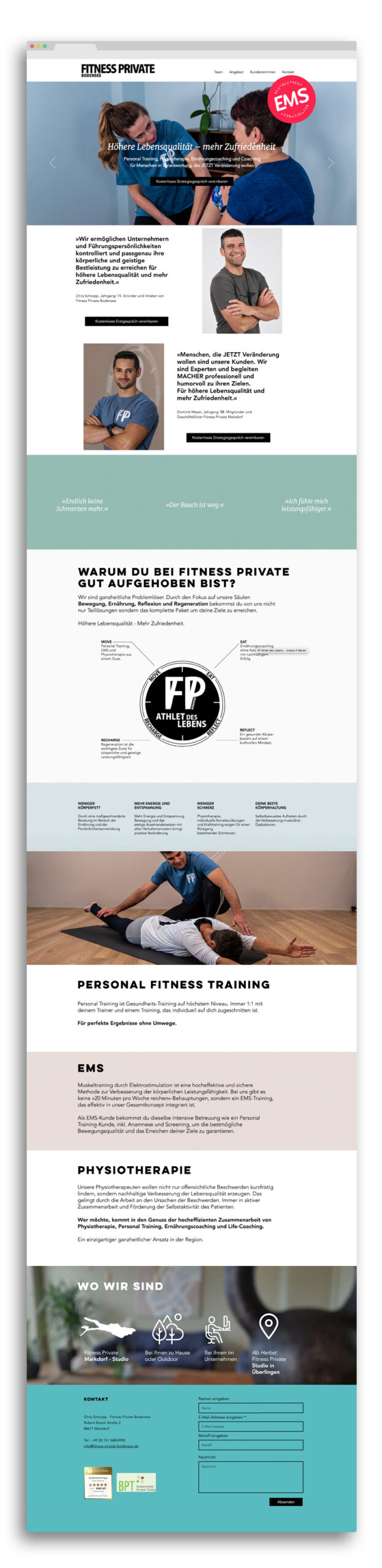 Webdesign Fitness Private Bodensee