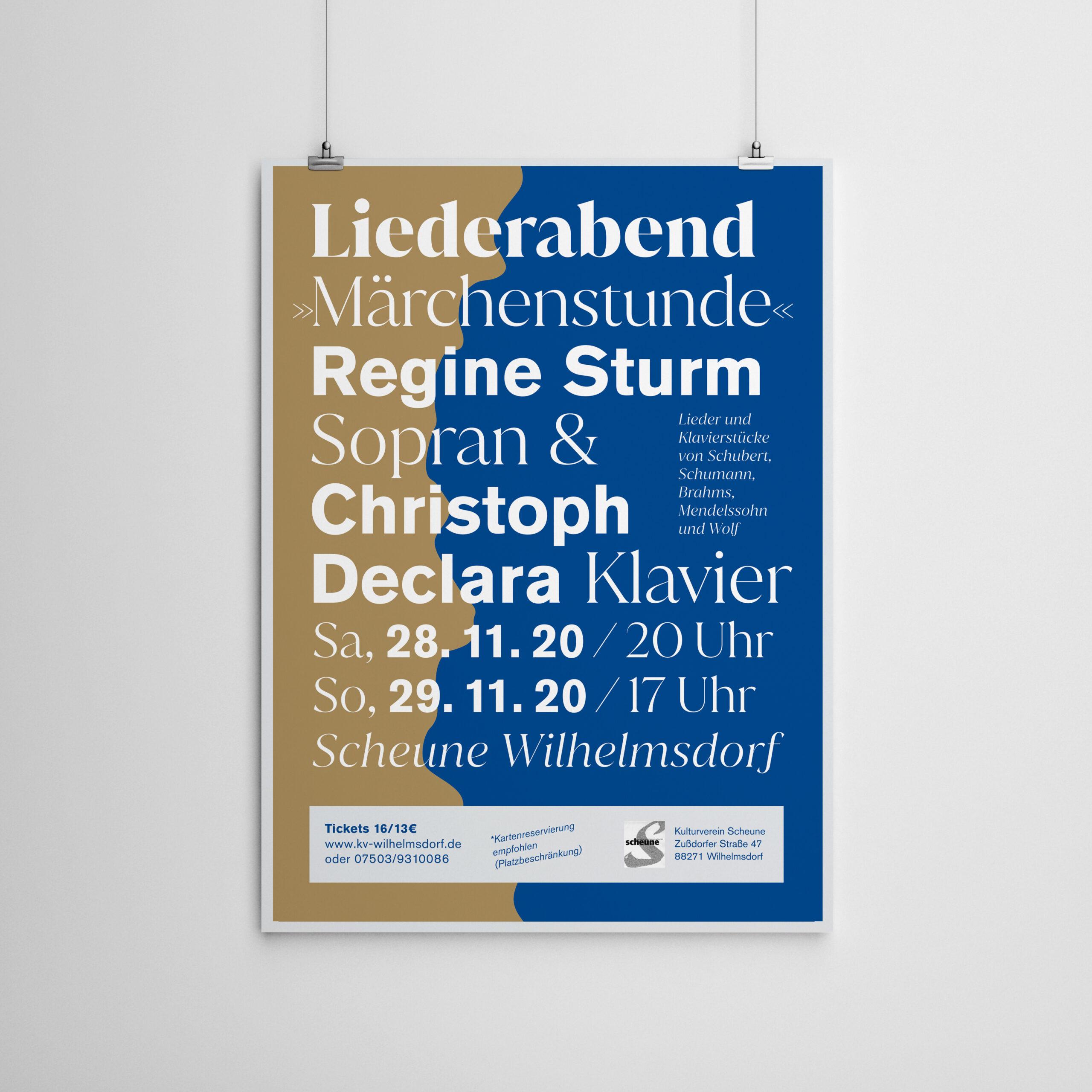 Poster Liederabend Scheune