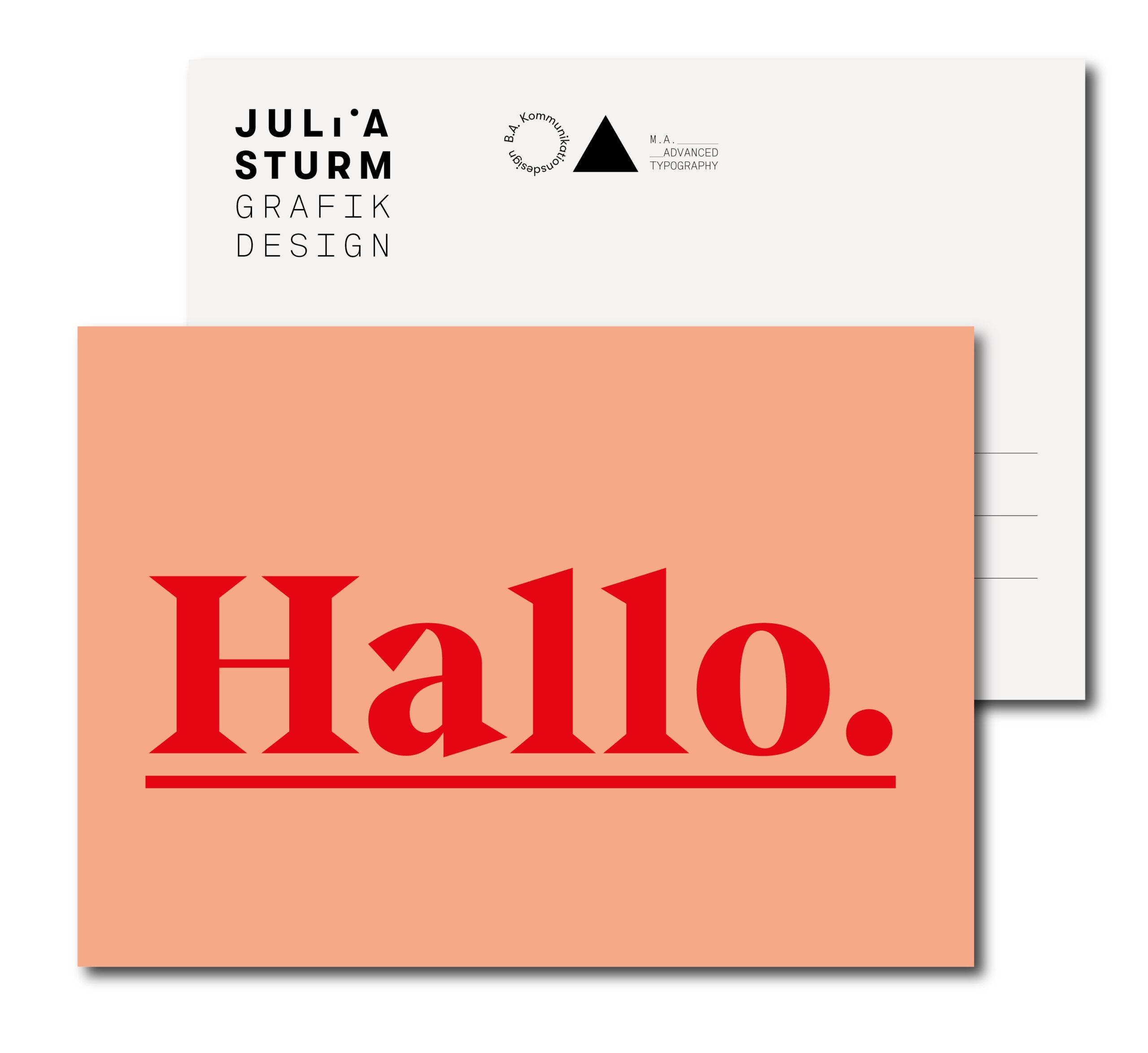 Julia Sturm -Postkarte Hallo